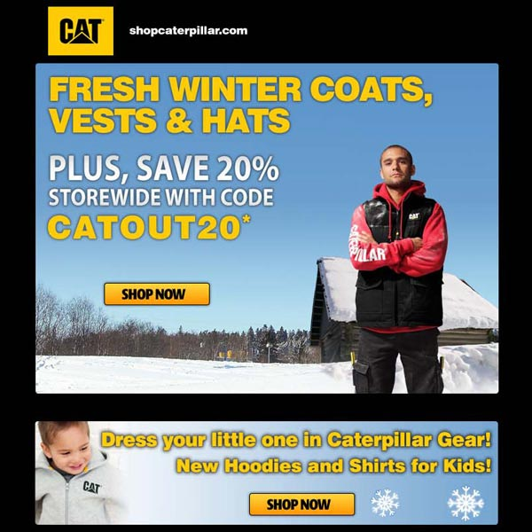 Caterpillar email promo - SureSource 2011
