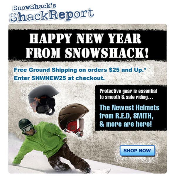 Snowshack New Years 2012 Promo - SureSource LLC 2011